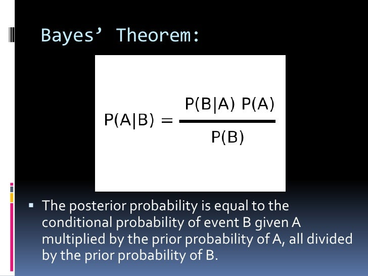 Ppt bayes ' theorem powerpoint presentation, free download id.