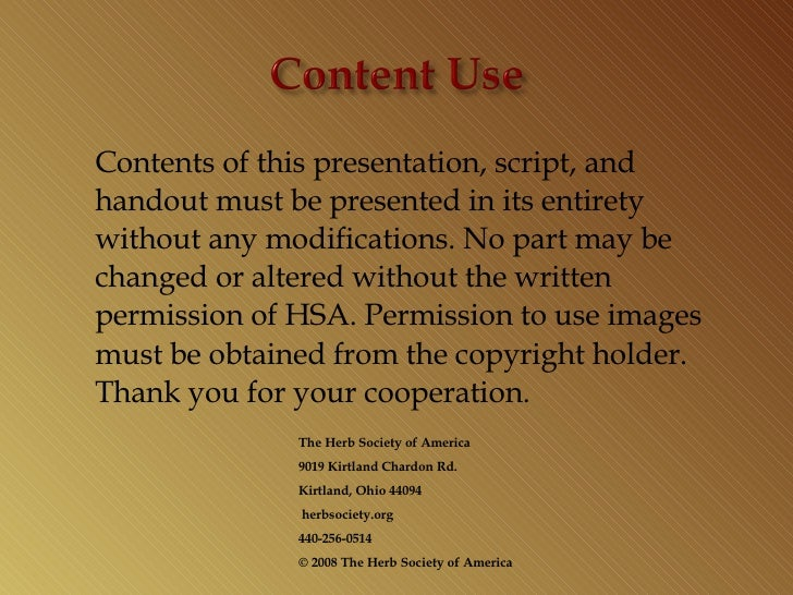 <ul><li>Contents of this presentation, script, and handout must be presented in its entirety without any modifications. No...
