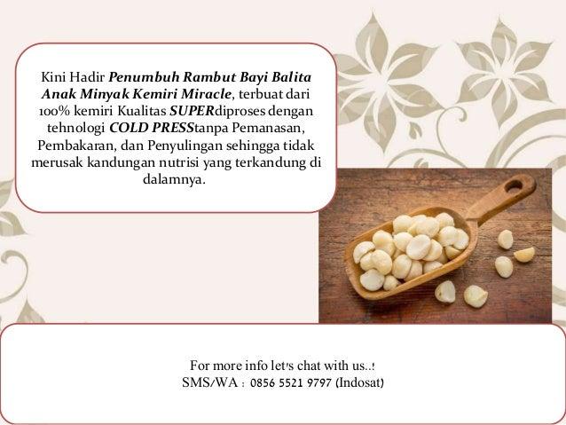Minyak Kemiri Untuk Bayi 0856 5521 9797 Indosat