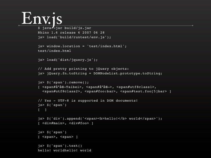 Env.js $ java -jar build/js.jar