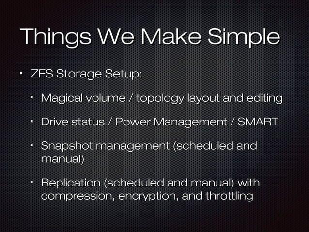 Things We Make SimpleThings We Make Simple ZFS Storage SetupZFS Storage Setup:: Magical volume / topology layout and editi...