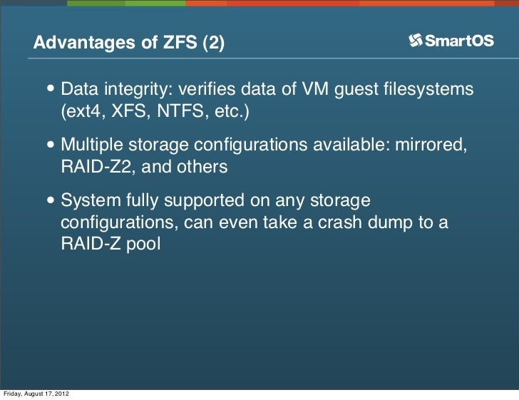 ... 9. Advantages Of ZFS ...