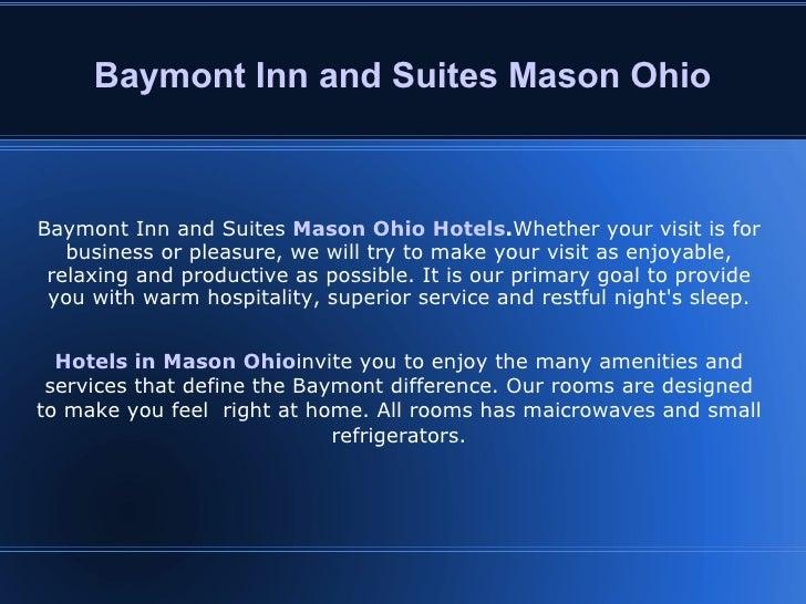 Baymont Inn and Suites Mason Ohio Baymont Inn and Suites  Mason Ohio Hotels . Whether your visit is for business or pleasu...