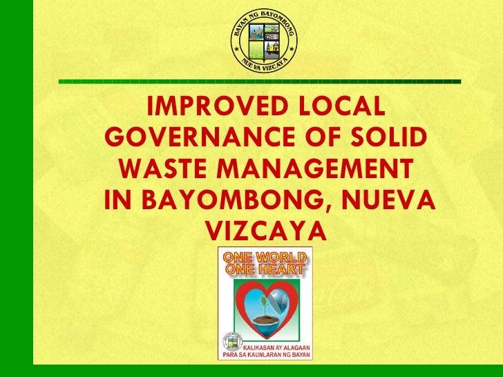 Bayombong swm initiatives
