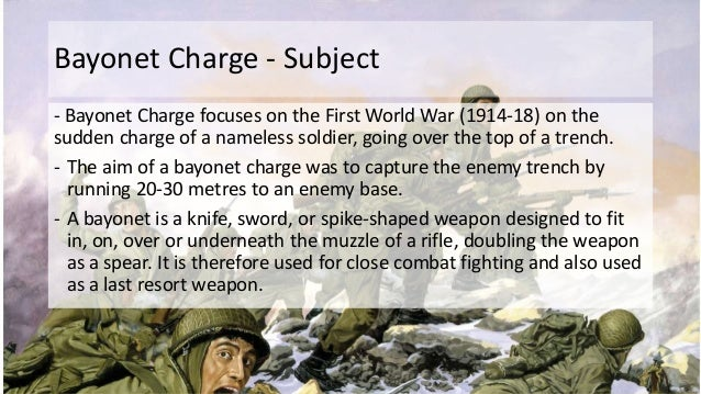 Bayonet Charge by Ted Hughes (Poetry Analysis, GCSE)
