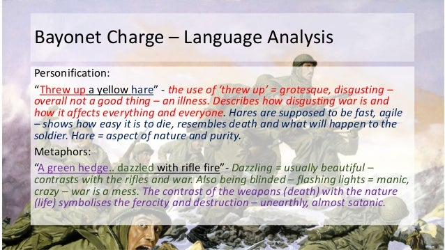 bayonet charge by ted hughes