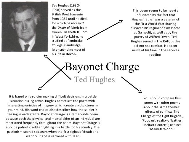 Comparison of bayonet charge and belfast confetti essay