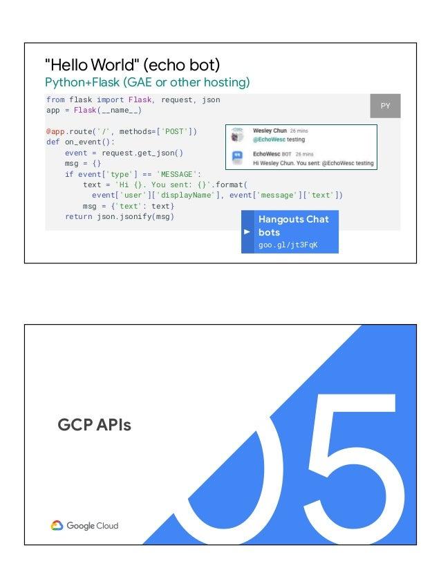 Exploring MORE Google (Cloud) APIs with Python