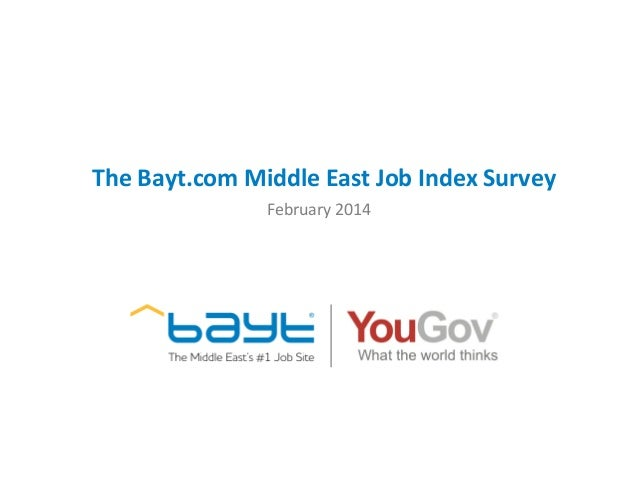 The Bayt.com Middle East Job Index Survey February 2014