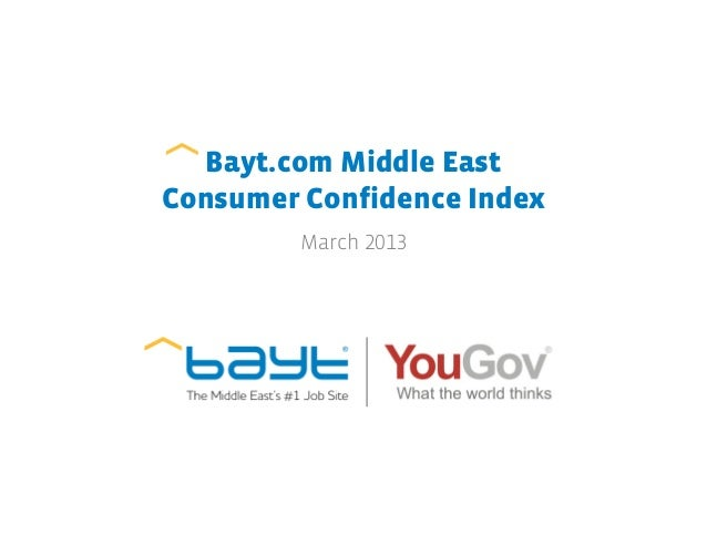 Bayt.com Middle EastConsumer Confidence Index         March 2013