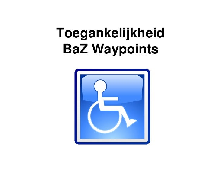 baz waypoints introductie