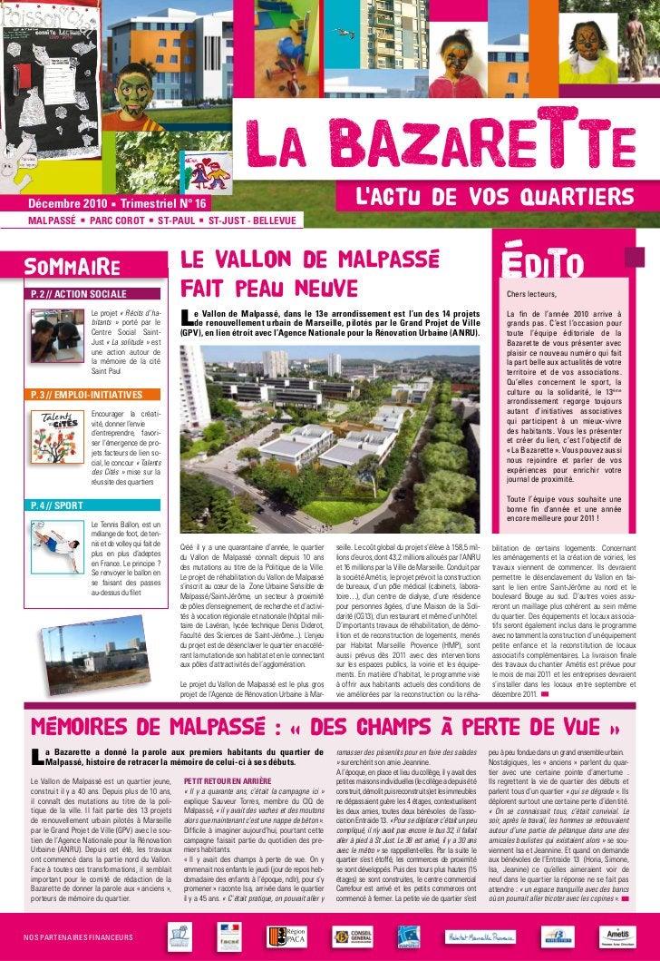 La Bazarettedécembre 2010                                                                         Trimestriel N° 16       ...