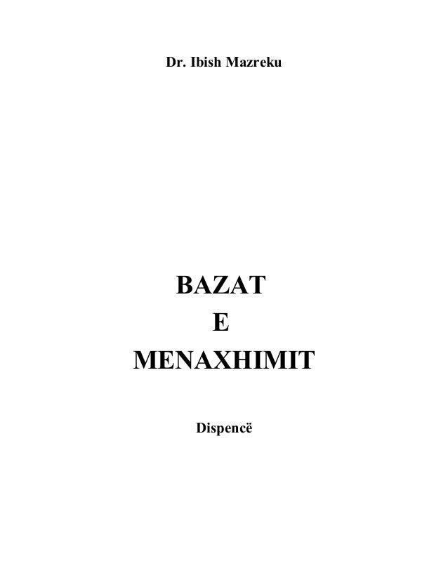 Dr. Ibish Mazreku BAZAT E MENAXHIMIT Dispencë
