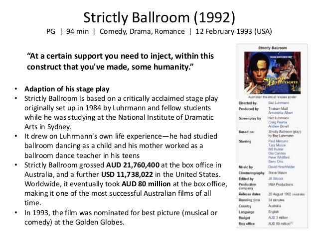 baz luhrmann style themes collaboration strictly ballroom
