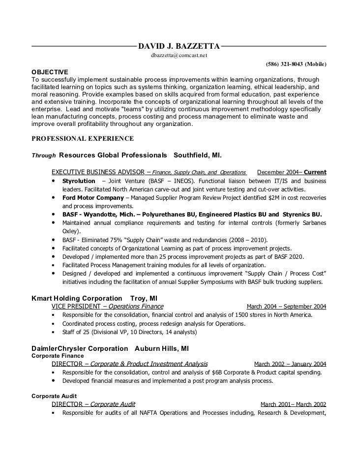 Vice President Of Operations Resume Samples | QwikResume