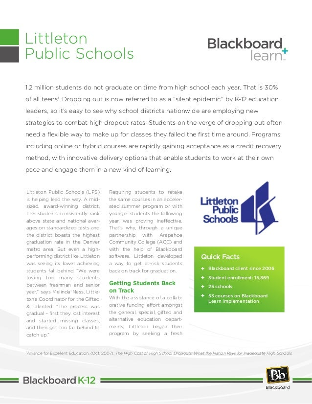 Littleton Public Schools (LPS) is helping lead the way. A mid- sized, award-winning district, LPS students consistently ra...