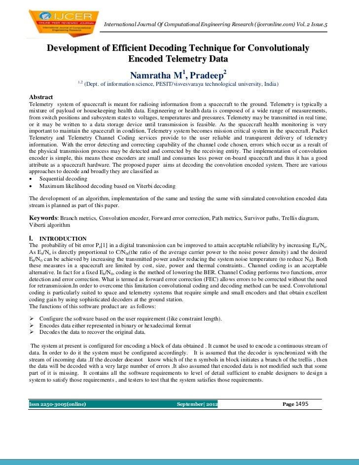 International Journal Of Computational Engineering Research (ijceronline.com) Vol. 2 Issue.5        Development of Efficie...