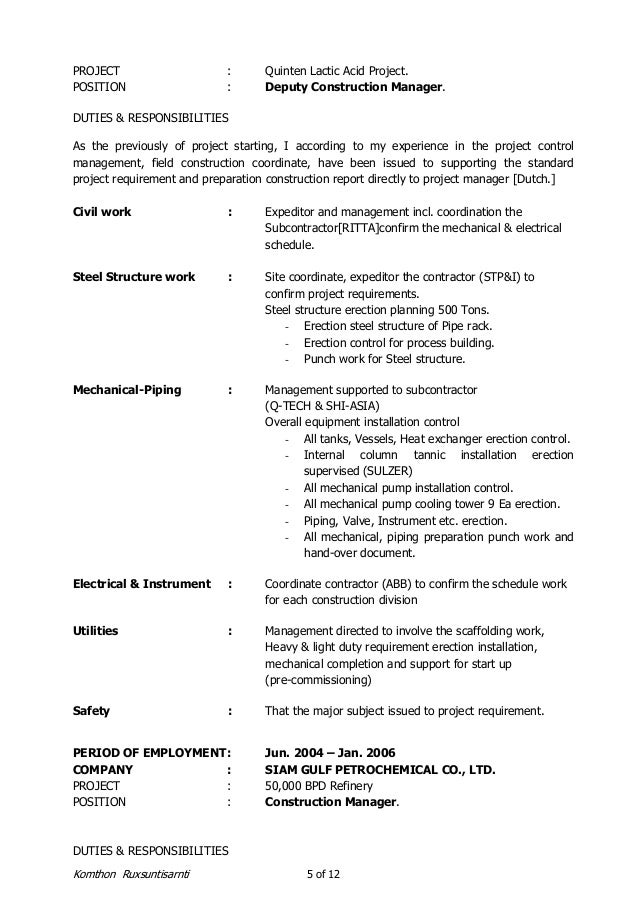 construction expeditor resume