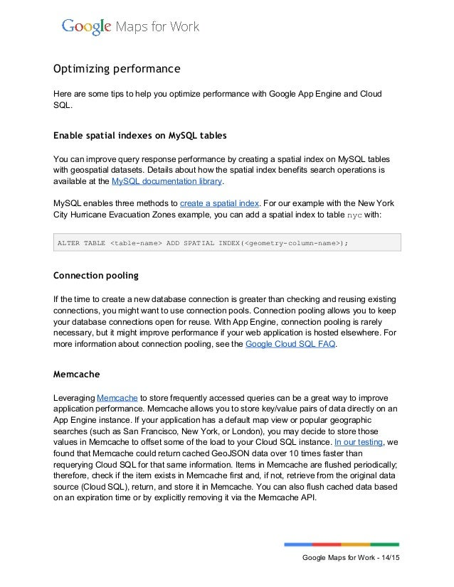 Building spatial applications with Google Cloud SQL and Google Maps A…
