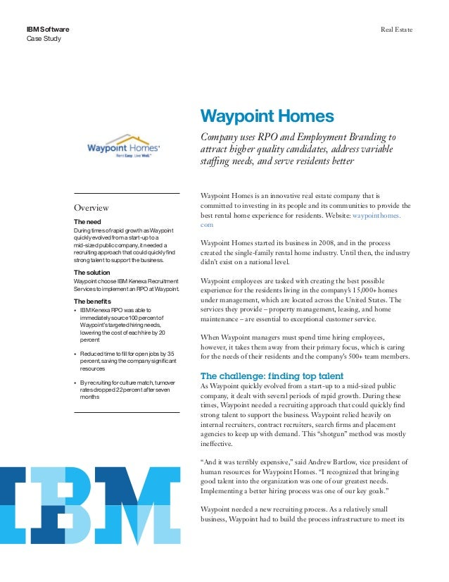 ibm employment benefits IBM Kenexa Employment Branding and RPO - Waypoint Homes