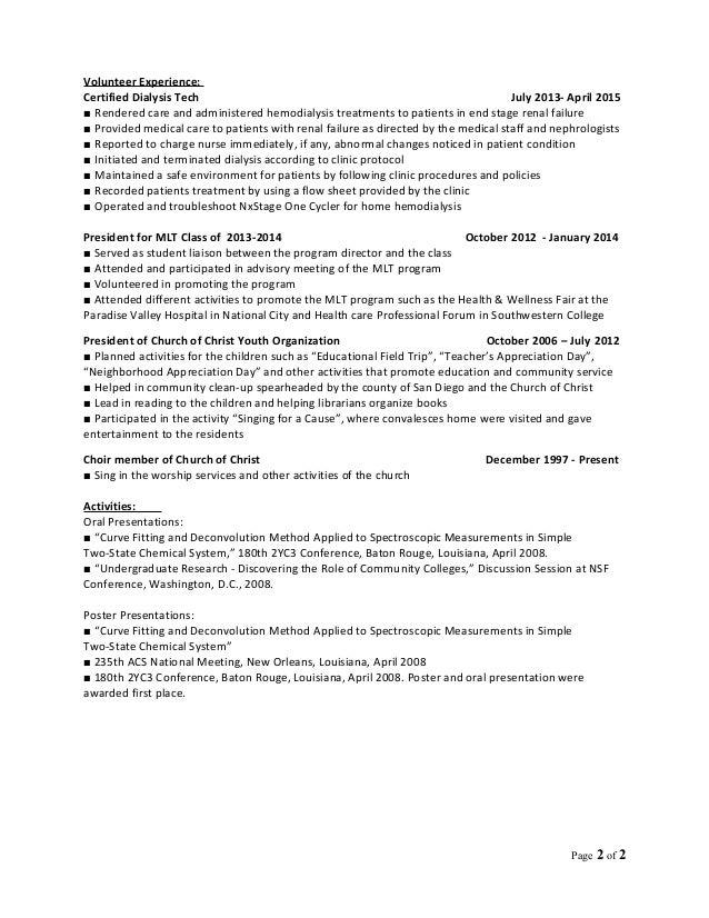 mlt resume