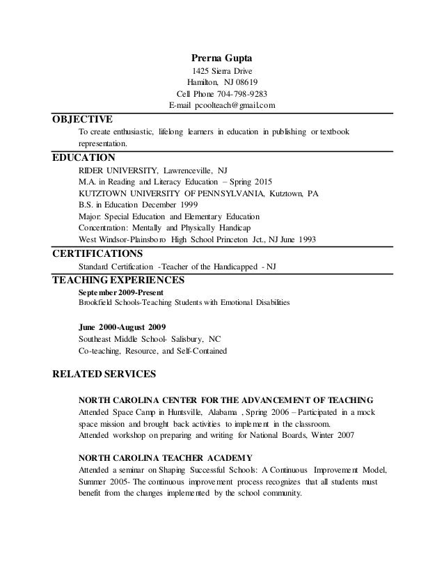 revised resume and cover letter