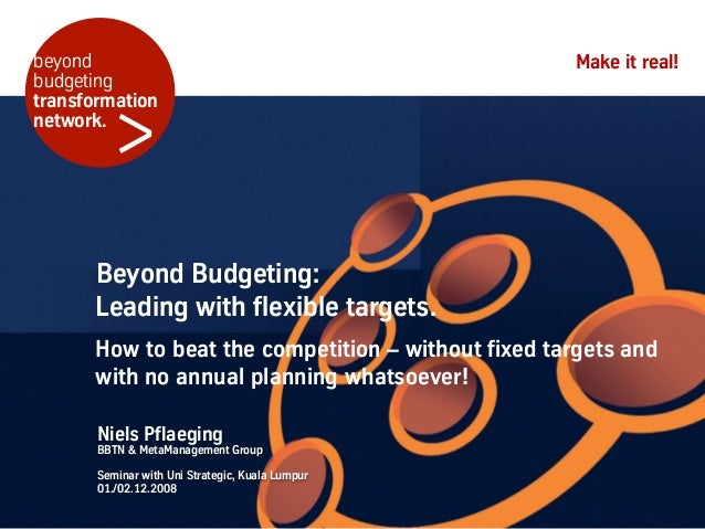 beyond                                              Make it real!budgeting         >transformationnetwork.      Beyond Bud...