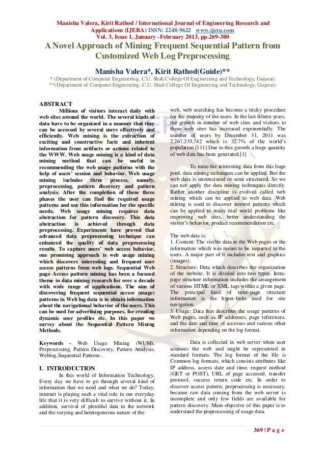 Manisha Valera, Kirit Rathod / International Journal of Engineering Research and                    Applications (IJERA) I...