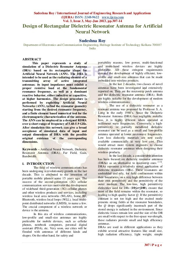 Sudeshna Roy / International Journal of Engineering Research and Applications(IJERA) ISSN: 2248-9622 www.ijera.comVol. 3, ...