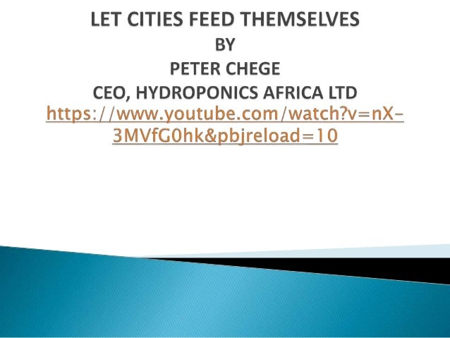 """Brussels Briefing 50: Peter Chege """"New opportunities in hydroponics in Kenya and lessons learnt"""""""