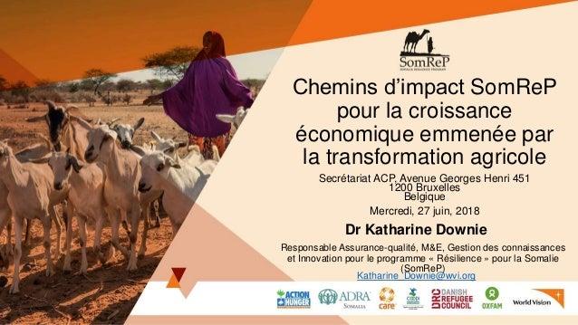 Chemins d'impact SomReP pour la croissance économique emmenée par la transformation agricole Secrétariat ACP, Avenue Georg...
