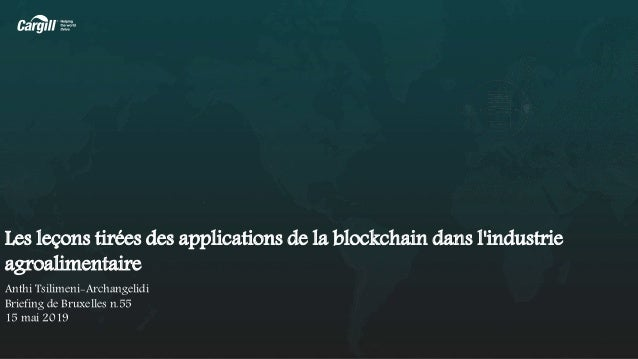 Les leçons tirées des applications de la blockchain dans l'industrie agroalimentaire Anthi Tsilimeni-Archangelidi Briefing...