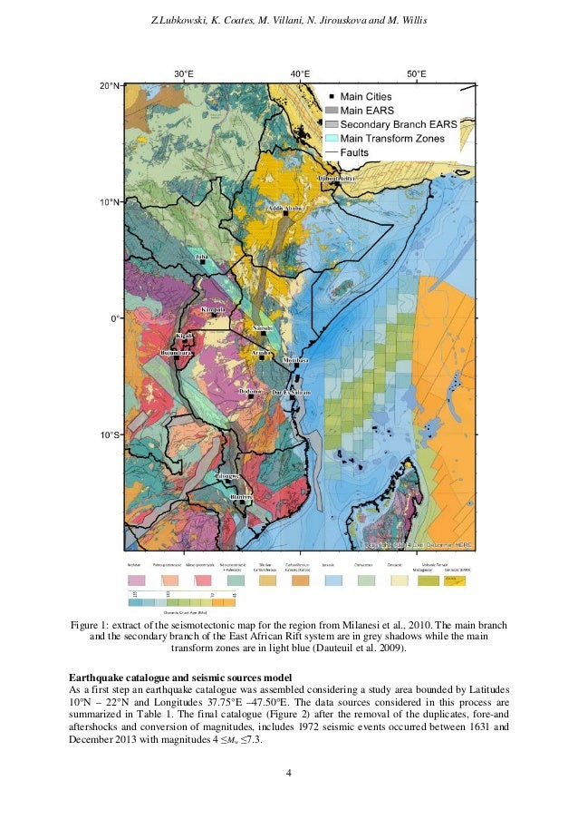 seismotectonic map of africa gallery