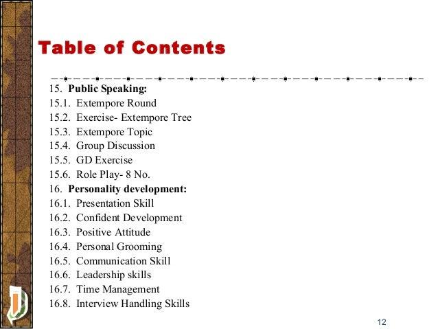 extempore examples