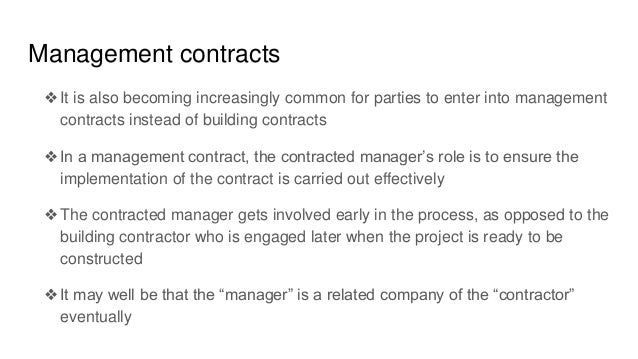 bot a common tyoe of contract In his type of contracts the public sector retains overall  private investment – in practice often foreign direct investment  but the most common are bot and boo.
