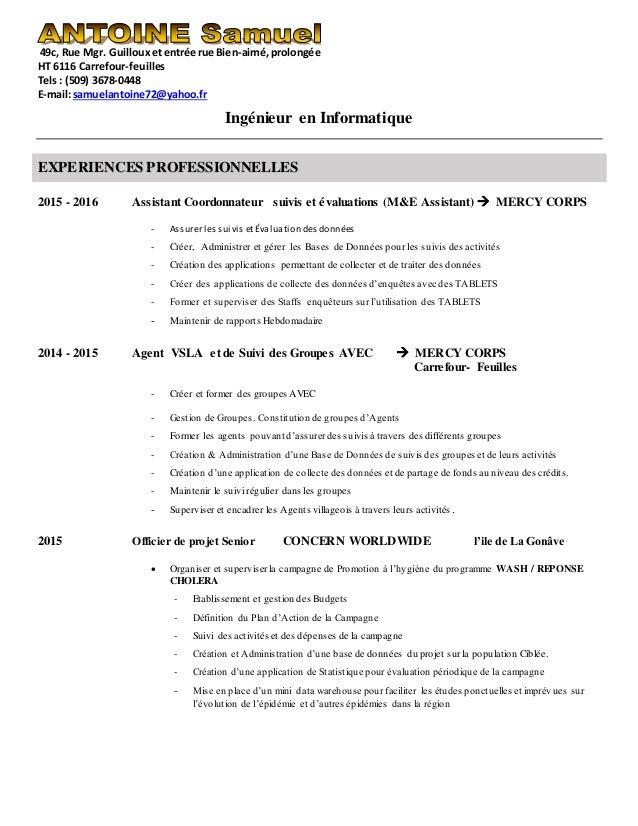 49c, Rue Mgr. Guillouxetentrée rue Bien-aimé,prolongée HT 6116 Carrefour-feuilles Tels: (509) 3678-0448 E-mail:samuelantoi...
