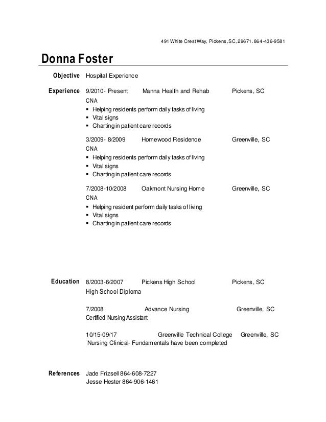 Donna Foster Resume 1