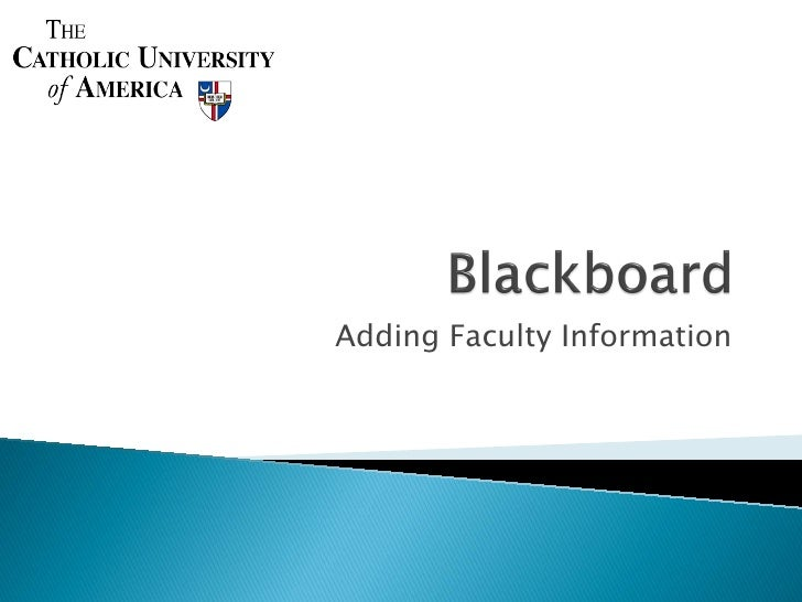 Adding Faculty Information