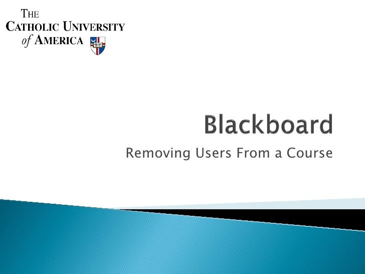 Removing Users From a Course