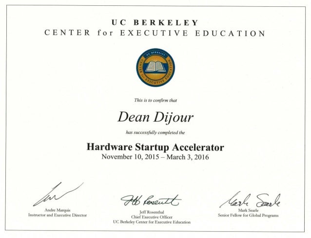Dean Dijour Uc Berkeley Hardware Accelerator Certificatepdf