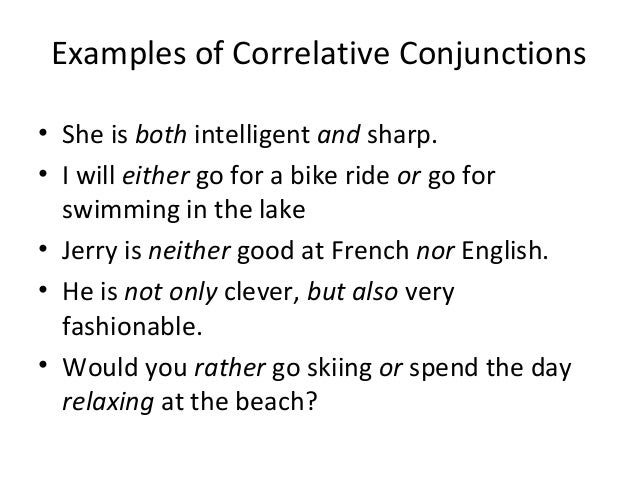 Bba 2 Unit 1 Conjunctions