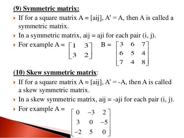 What is symmetric matrix?