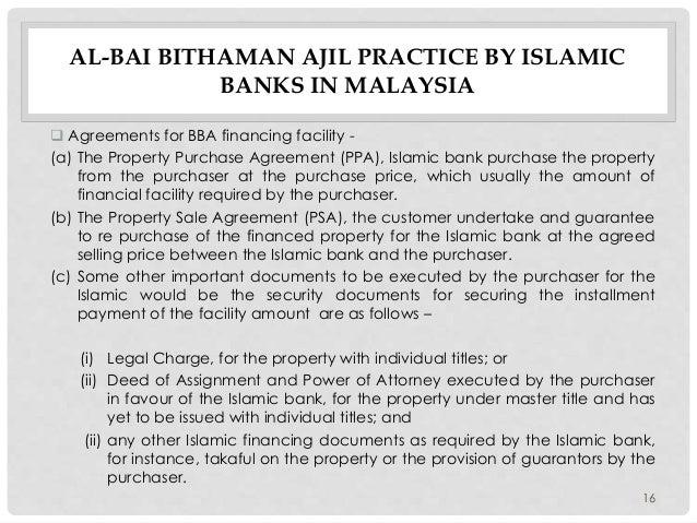 Al Bai Bithaman Ajil Syariah And Legal Issues The Malaysian Exper