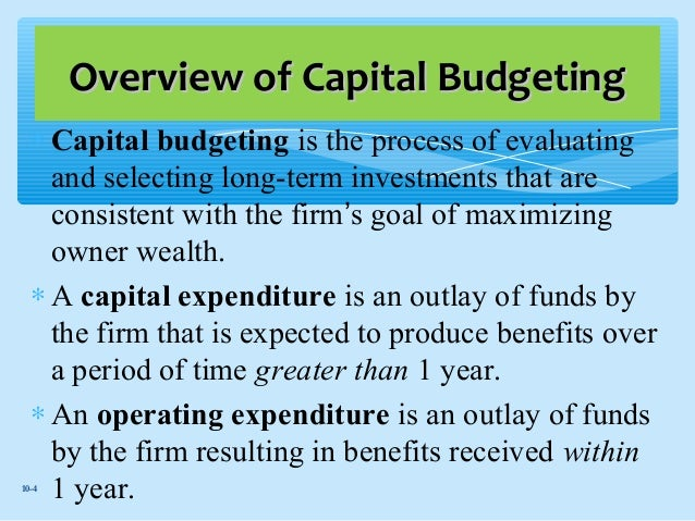 compare and contrast capital budgeting methods This article investigates the application of capital budgeting techniques and the  incorporation of risk into the  but also comparing and contrasting its findings.
