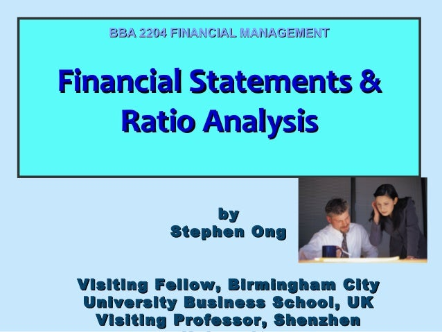 Financial Statements &Financial Statements & Ratio AnalysisRatio Analysis Financial Statements &Financial Statements & Rat...