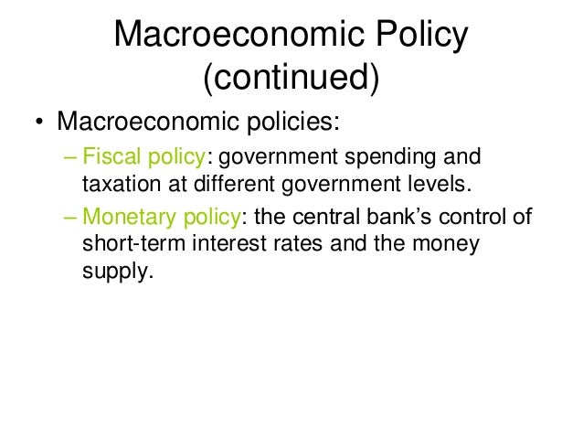 an introduction to the analysis of a macroeconomic policy Macroeconomics: introduction macroeconomic analysis from unemployment and inflation to government policy, learn what macroeconomics measures and how it affects.