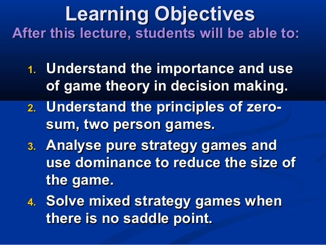 dominance principle in game theory pdf