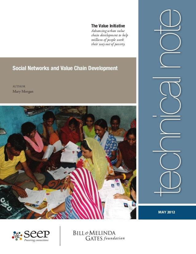 Social Networks and Value Chain Development Author Mary Morgan MAY 2012 The Value Initiative Advancing urban value chain d...
