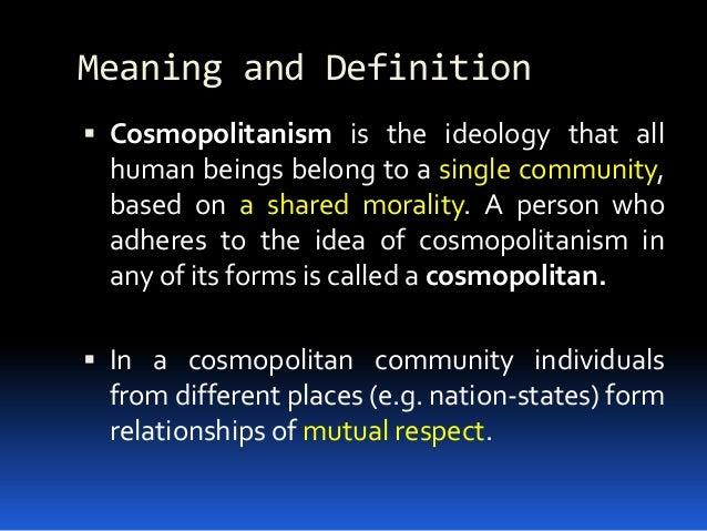 Cosmopolitan definition