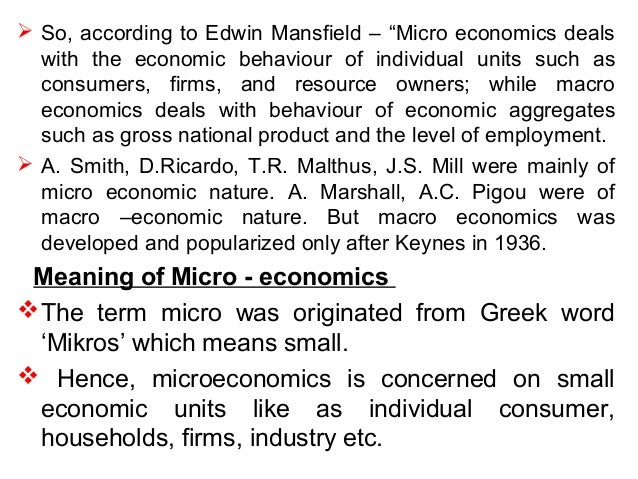 Microeconomics: Introduction and basic concepts